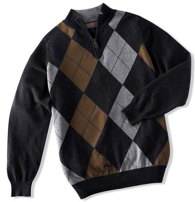 mens argyle sweater