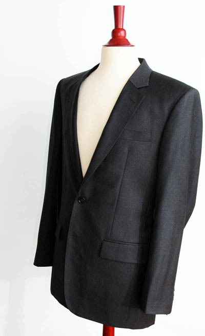 men's charcoal gray suit