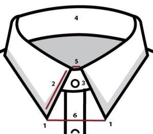 men's labled collar