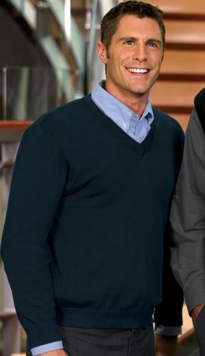 V neck mens sweater