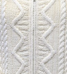 Aran Sweater Zigzag Stitch