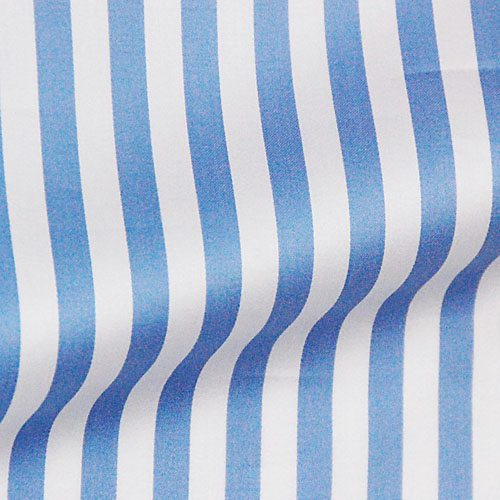 cotton blue stripe on white
