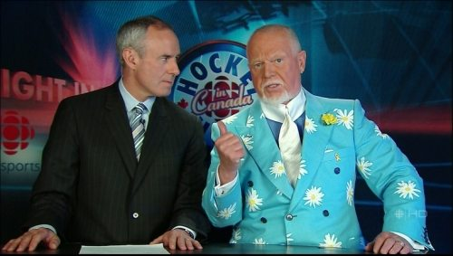 Don Cherry (at right) - Sportscaster