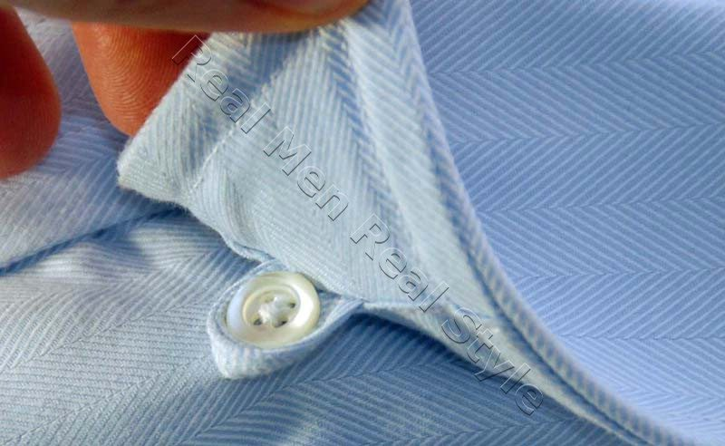 hidden button under shirt collar