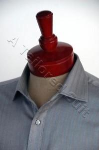 Black Herringbone Front Top Collar