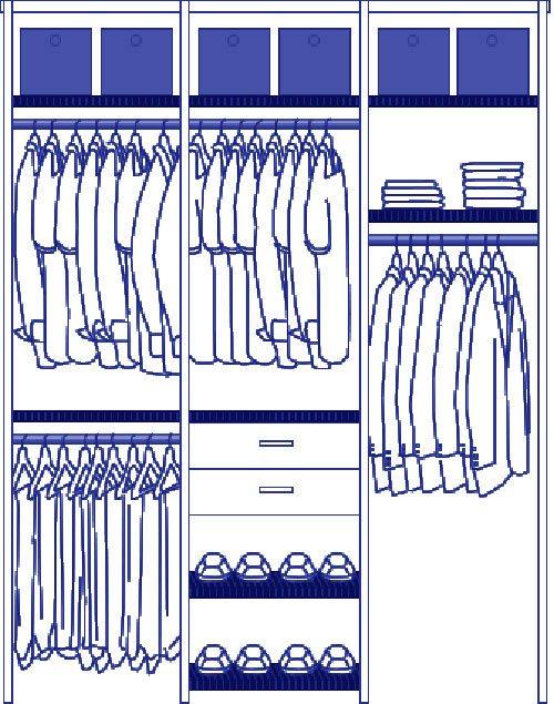 interchangeable man's wardrobe