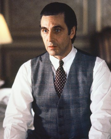 Al Pacino wearing a tab collar in Scent of a Woman