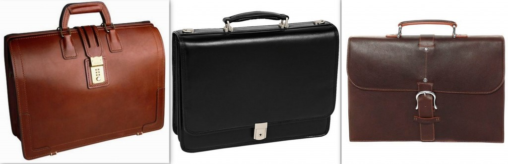 Sharp-looking leather briefcases