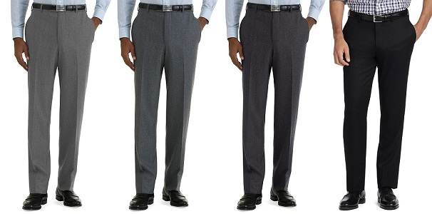 Grey to black men's trousers