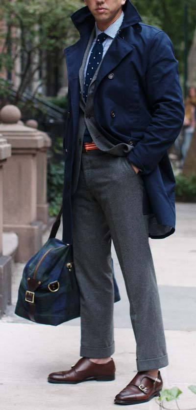 Man in gray trousers
