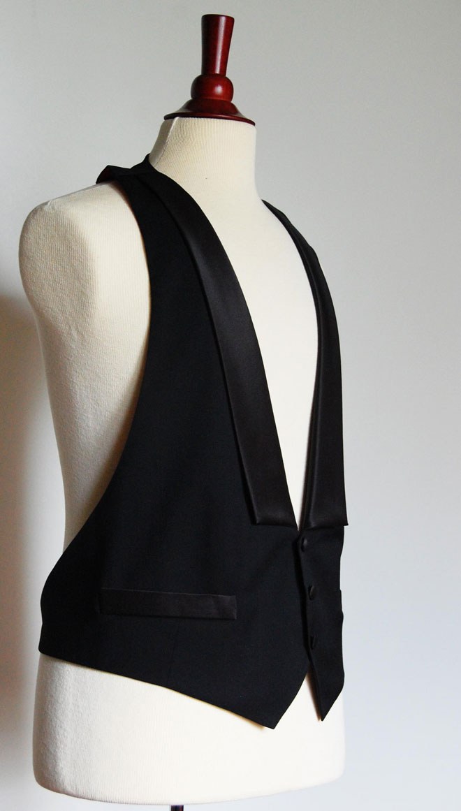 mens black tie waistcoat vest