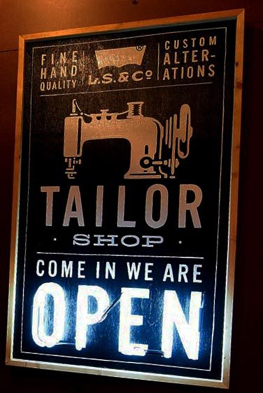 tailor shop sign