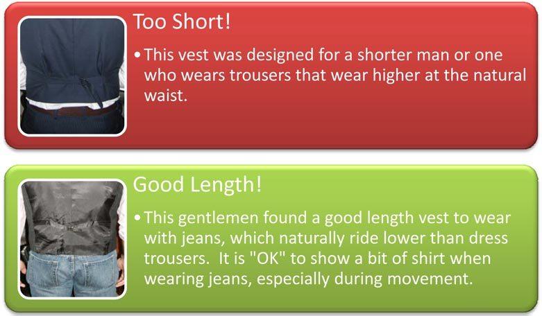 mens vest length proper