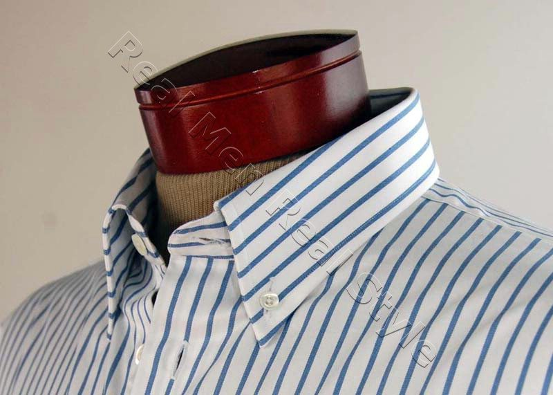 mens blue white dress shirt