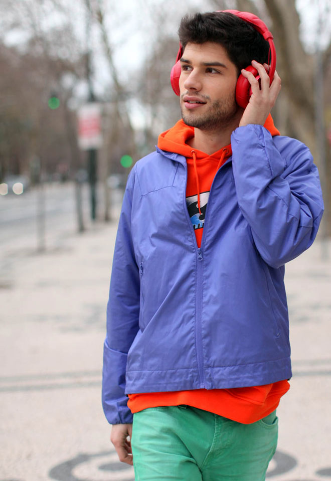 young man dressed in colors