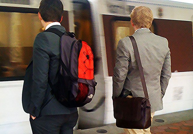 mens suit jacket backpack
