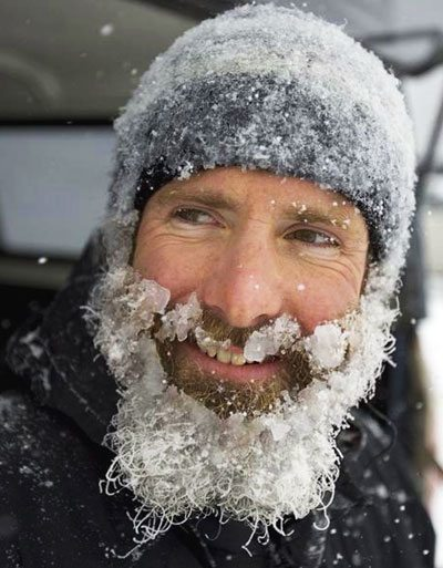 unknown man with ice beard