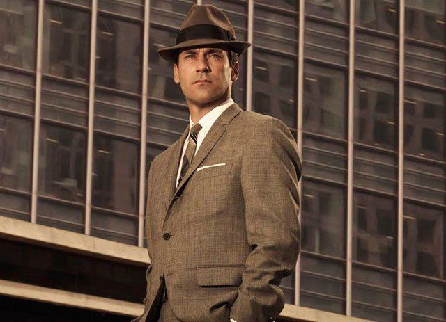 mens classic brown suit