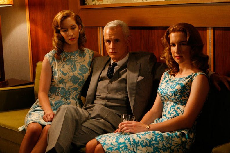 Roger Sterling in three-piece suit