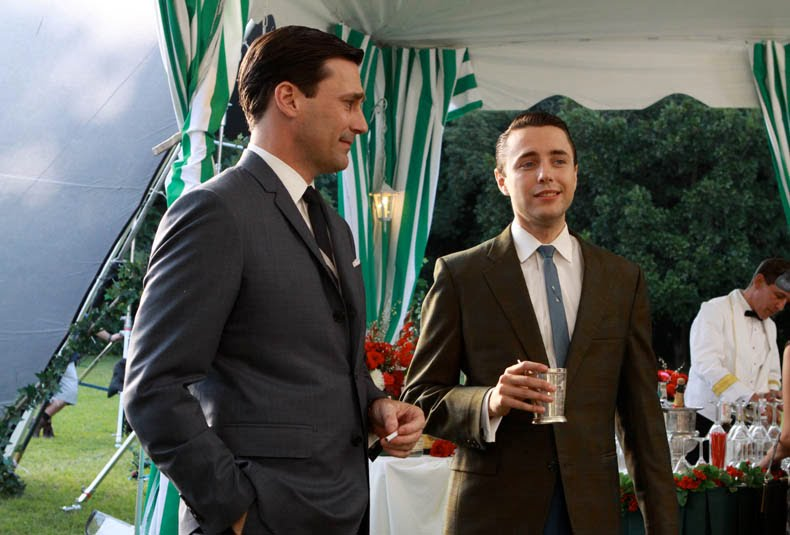 Pete Campbell and Don Draper in classy suits