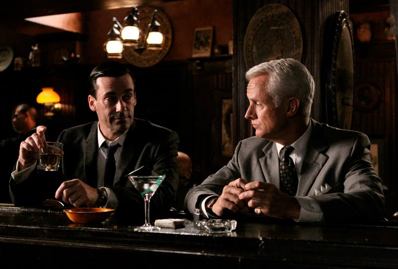 Roger Sterling and Don Draper at a bar
