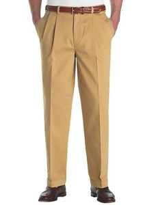 Men's trousers - pleated front