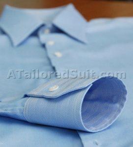 Men's dress shirt cuff