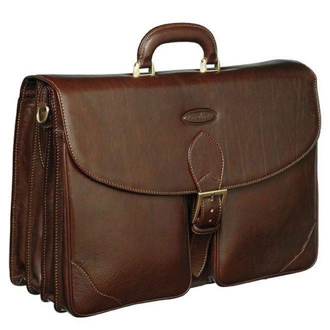 Brown Leather Bag Italian