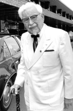 Colonel Sanders in suit