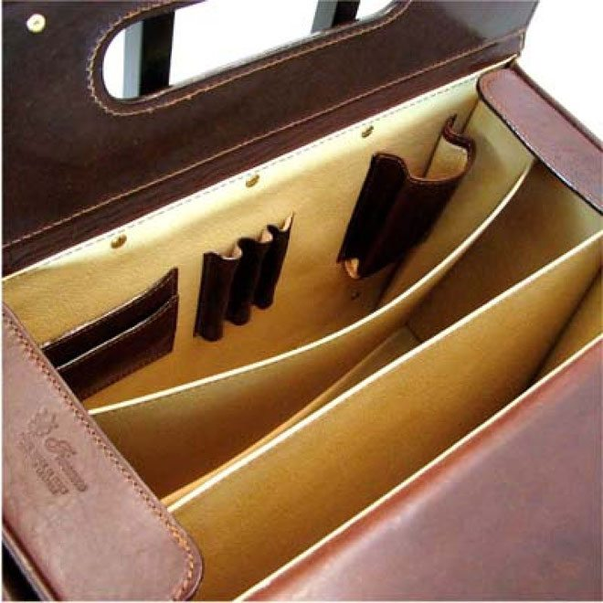 inside leather case
