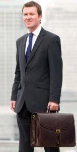 man leather briefcase