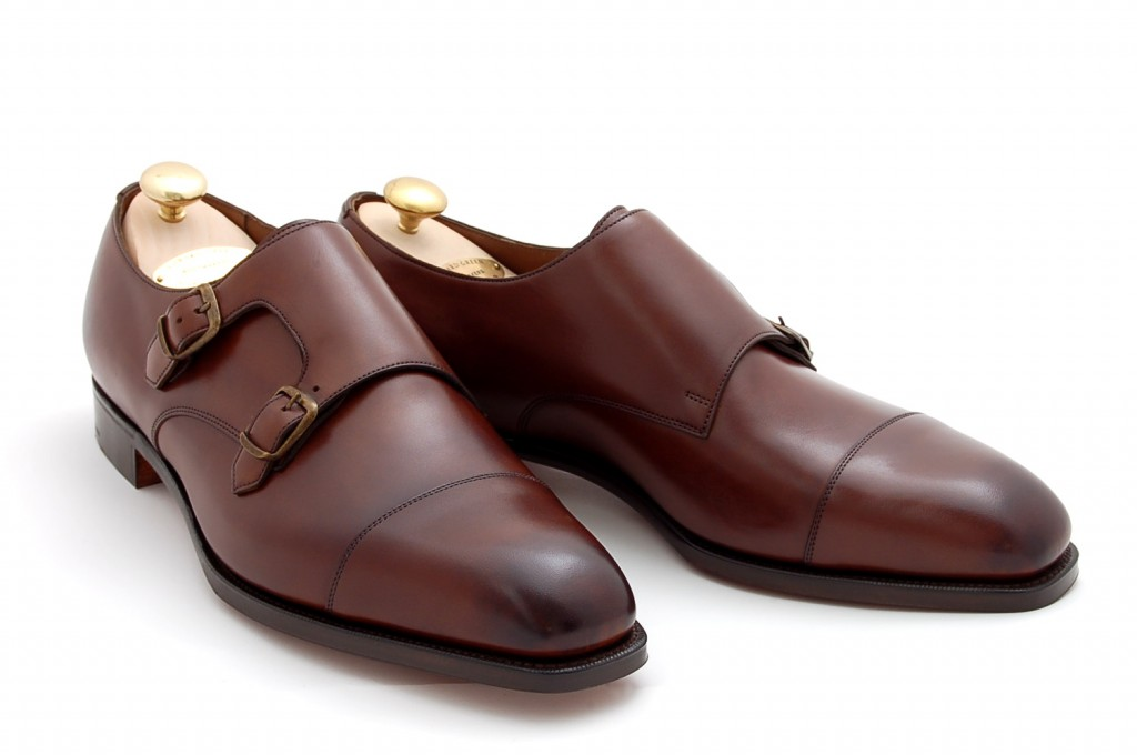 mens double monk dress shoes