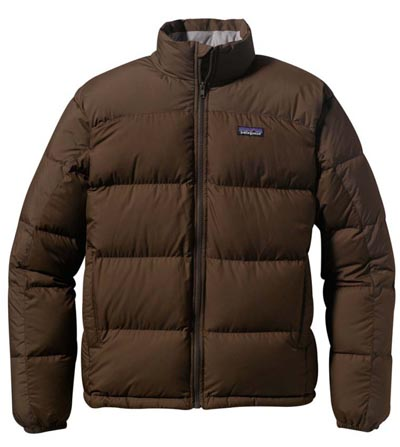 Brown Down men's jacket