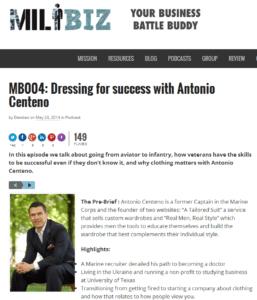 MB004 Dressing for success with Antonio Centeno MILBIZMILBIZ