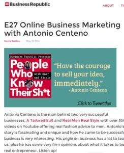 Online Business Marketing with Antonio Centeno