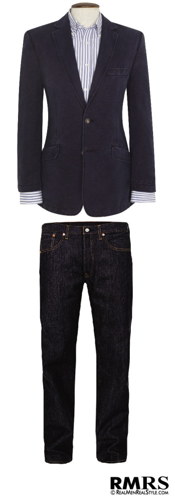 wear a sport jacket with jeans