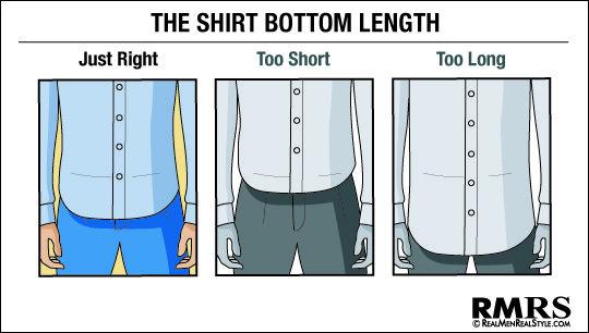 Dress Shirt Bottom Hem Length