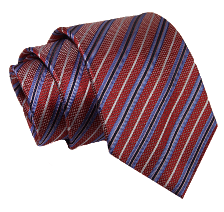 The Dark Knot Danbury Repp Stripes - Red