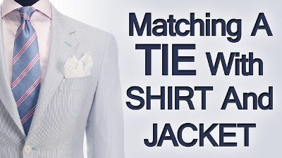 5 tips matching ties shirts jackets rules on matching for How to match shirt and tie